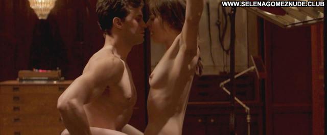 Dakota Johnson Fifty Shades Of Grey Bed Beautiful Posing Hot Nude