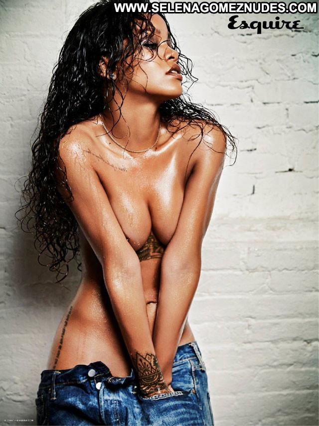 Rihanna No Source Babe Jeans Celebrity Wet Horny Beautiful Nipples