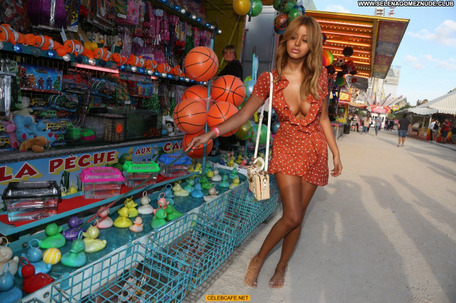 Zahia Dehar No Source  Paris Babe Boob Slip Celebrity Posing Hot