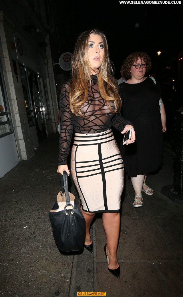 Abigail Clarke No Source Party London Posing Hot Big Tits Breasts