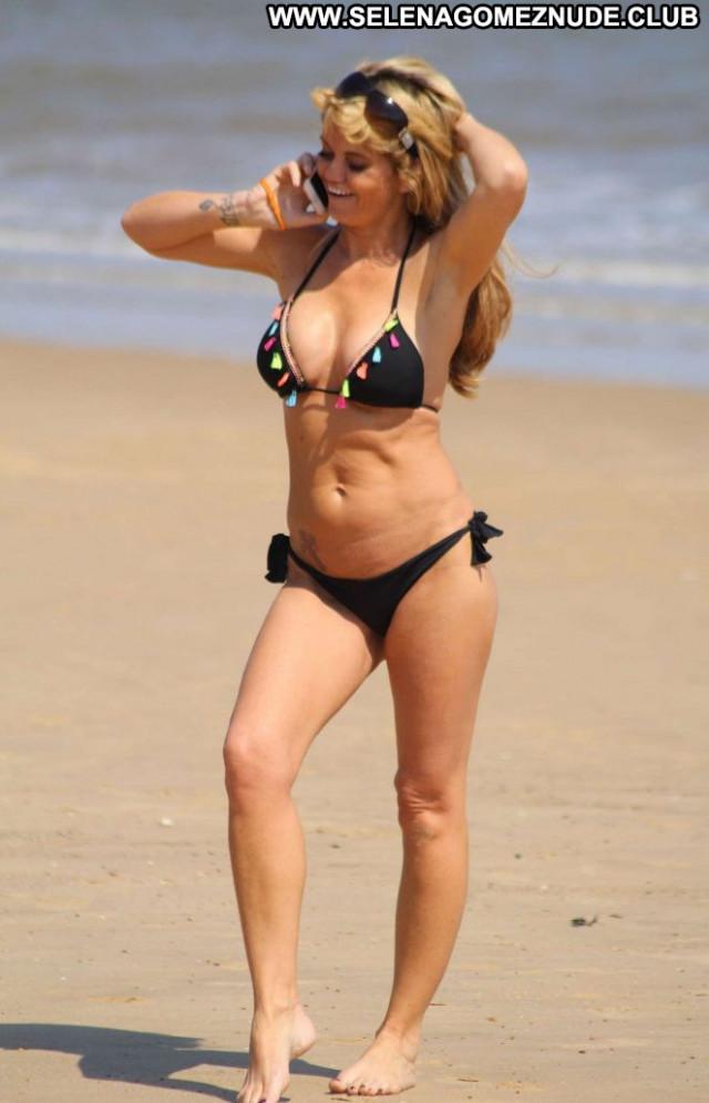 Danniella Westbrook The Beach Beach Paparazzi Black Posing Hot Bikini