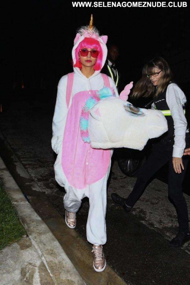 Nina Dobrev Halloween Party  Posing Hot Beautiful Babe Party