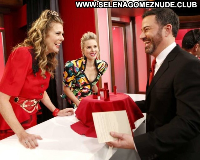 Kristen Bell Jimmy Kimmel Live  Paparazzi Angel Babe Celebrity Los