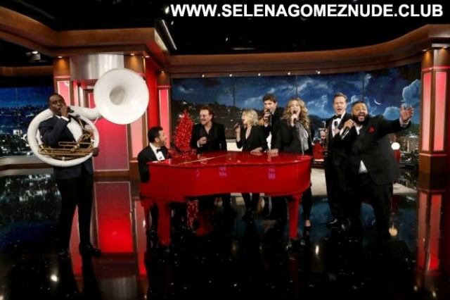 Kristen Bell Jimmy Kimmel Live Los Angeles Posing Hot Paparazzi Live