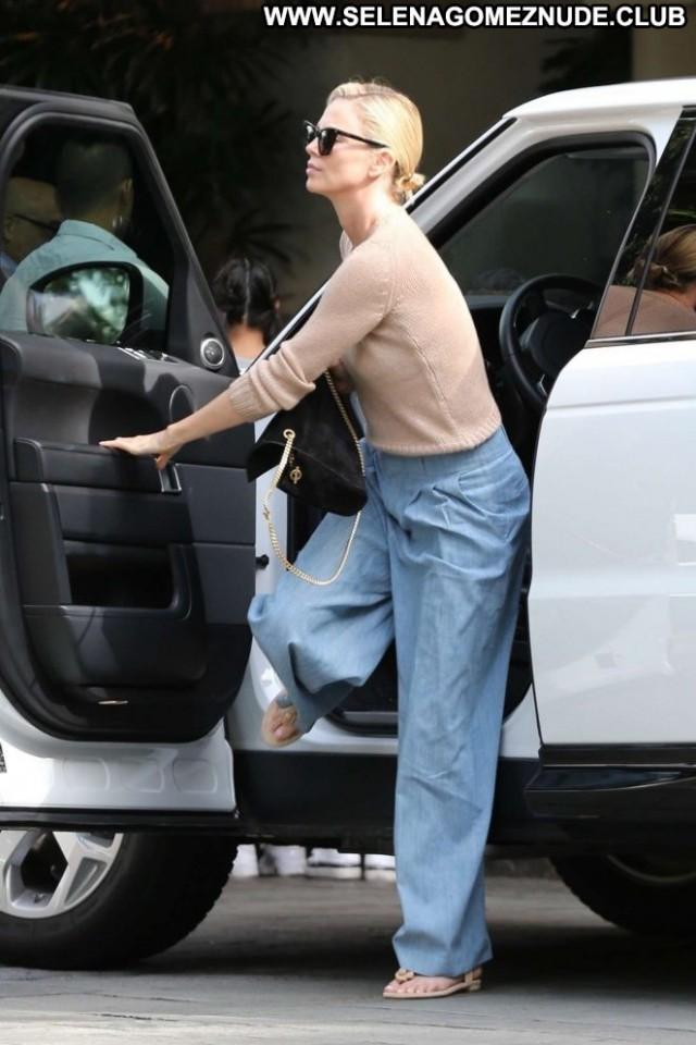 Charlize Thero Beverly Hills  Babe Paparazzi Celebrity Posing Hot