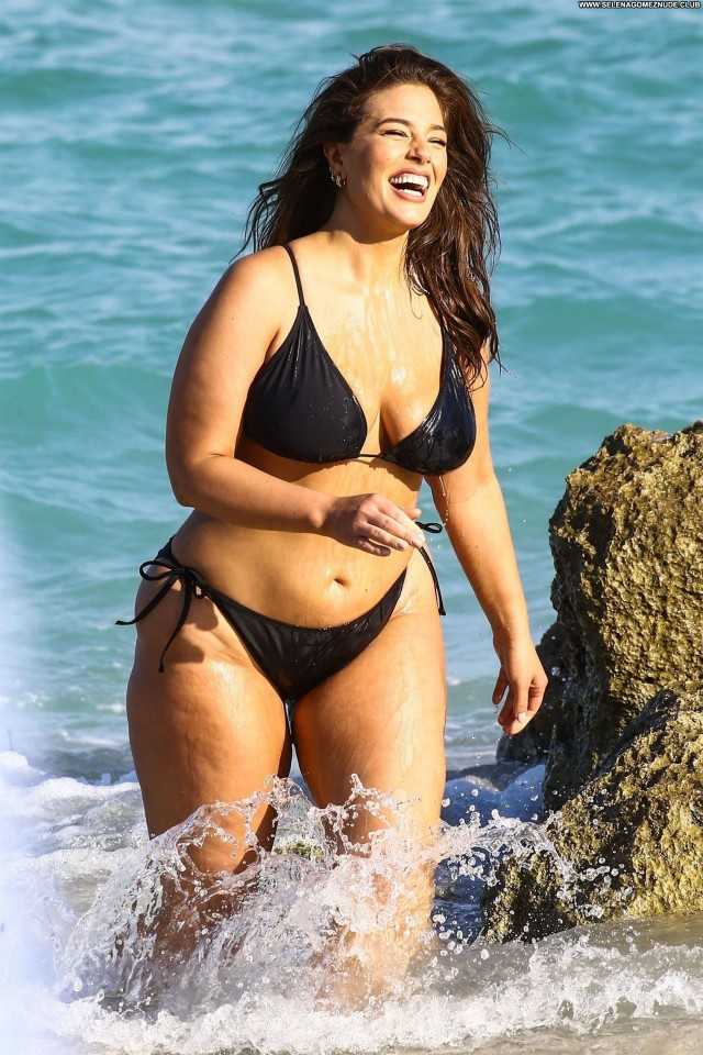 Ashley Graham The Beach Natural Old Beautiful Ass Swimsuit Black Babe