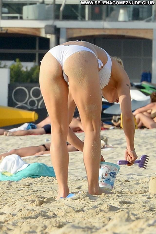 Michelle Hunziker The Beach Italian Sexy Beautiful Bikini Swiss