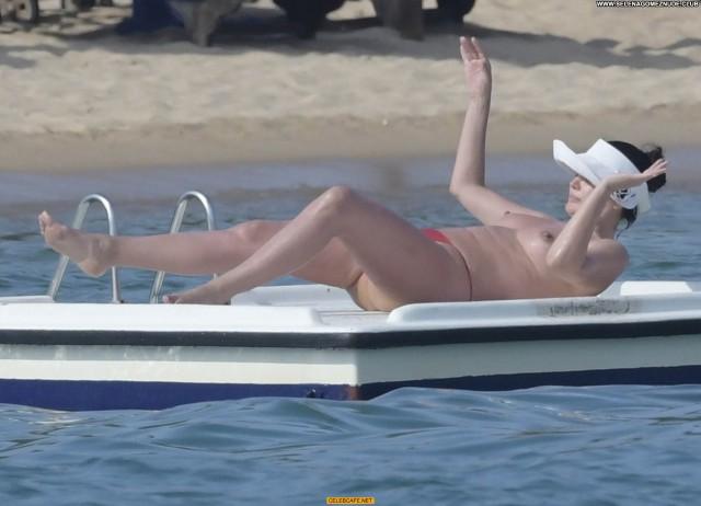 Bleona Qereti The Beach Babe Beach Posing Hot Beautiful Tits