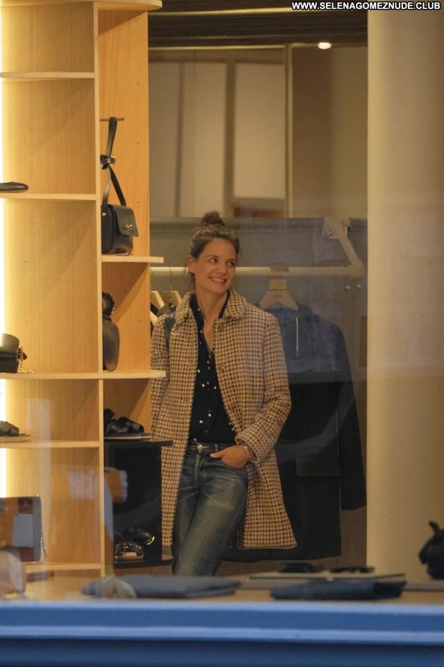 Katie Holmes New York Shopping Babe Beautiful New York Posing Hot
