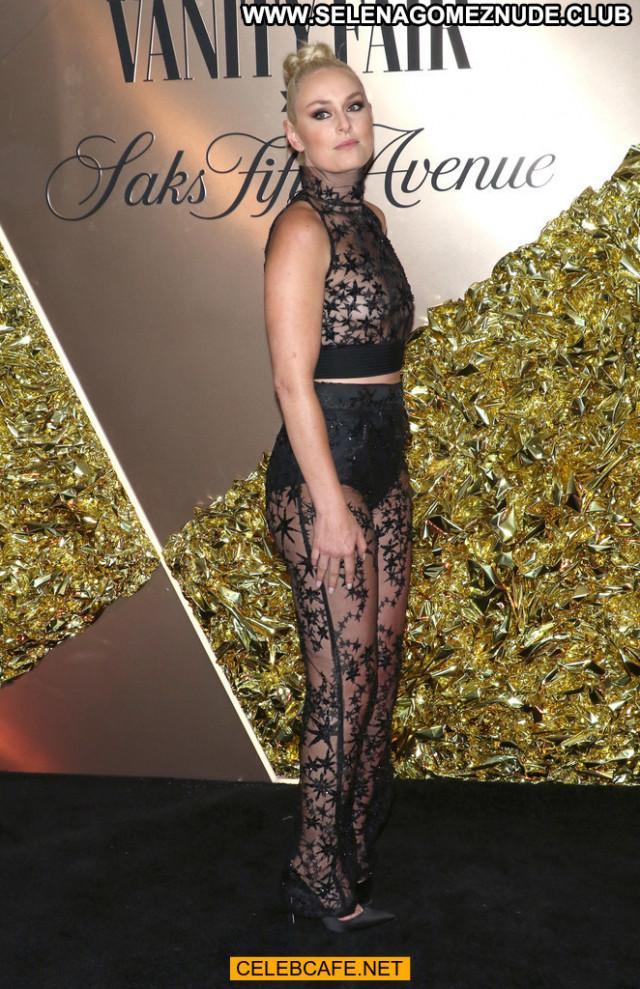 Lindsey Vonn Vanity Fair Beautiful Celebrity Braless Babe Bra See