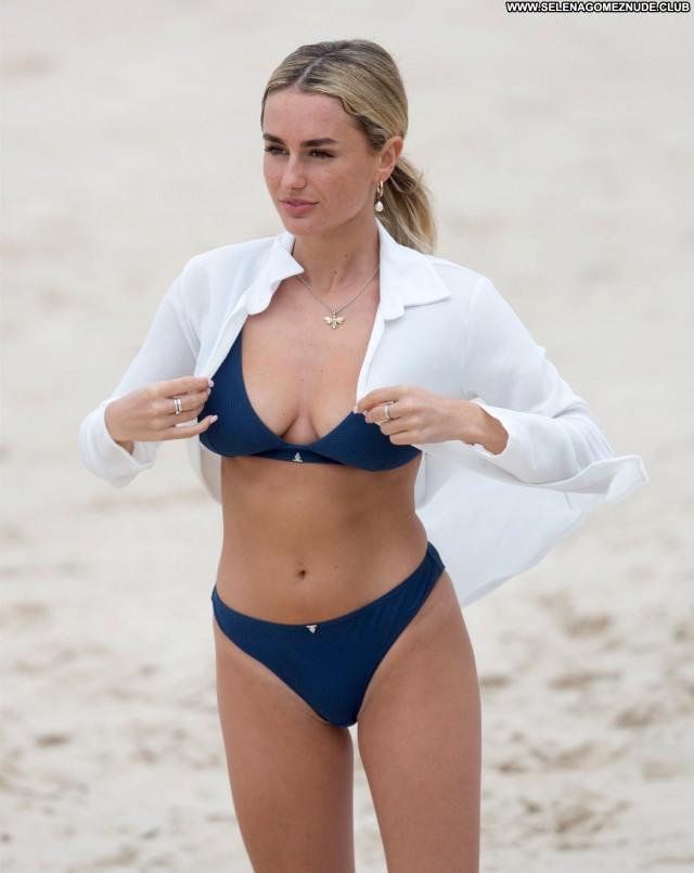 Amber Davies No Source Celebrity Famous Swimsuit Babe Beautiful Beach